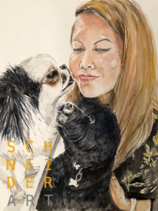 Pet and Owner Watercolour