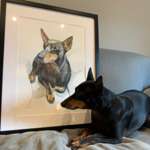 Dog With Portrait