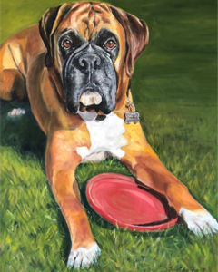 Oil Painting of Pet